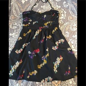 American Eagle Outfitters gray floral dress Sz 12